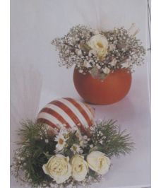 Μπομπονιέρες με φυσικά άνθη