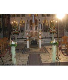 Εσωτερικός στολισμός εκκλησίας γάμοσ